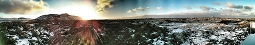 sunrise iceland panoramas bluelagoon