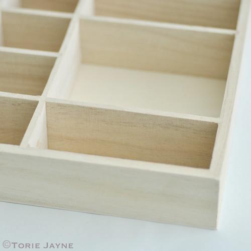 Mini wooden shelves