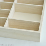 Mini wooden shelves