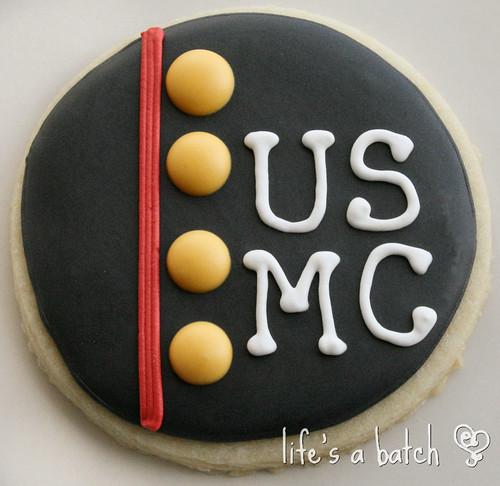 USMC cookie.