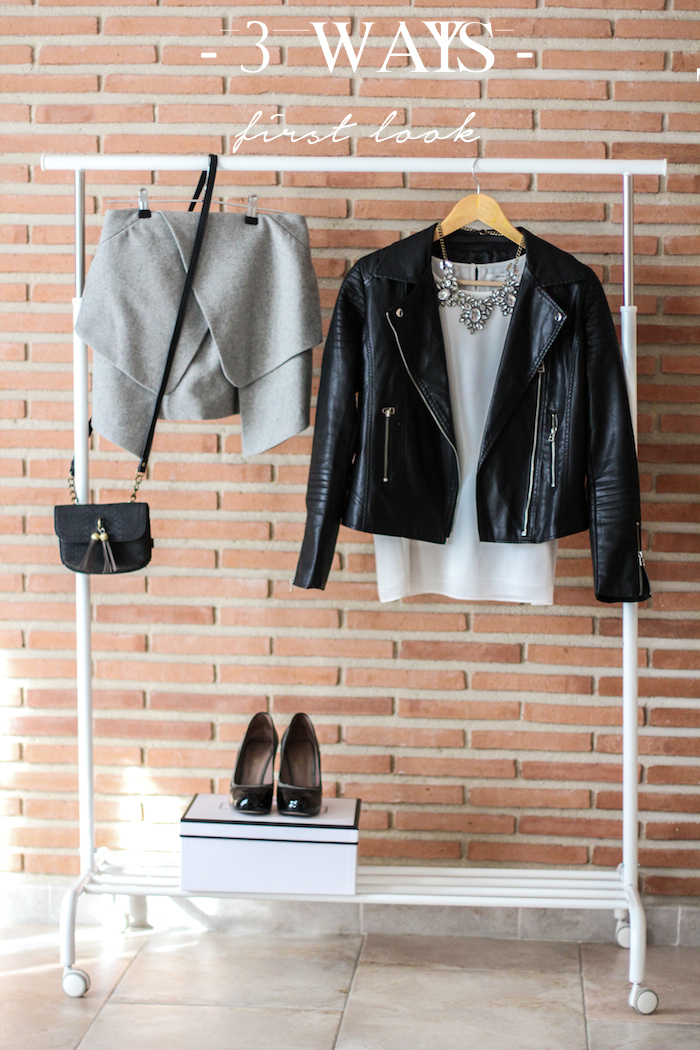 3 ways, blog de moda, look con falda gris, falda gris inspiración, grey skirt inspiration, grey skirt look,