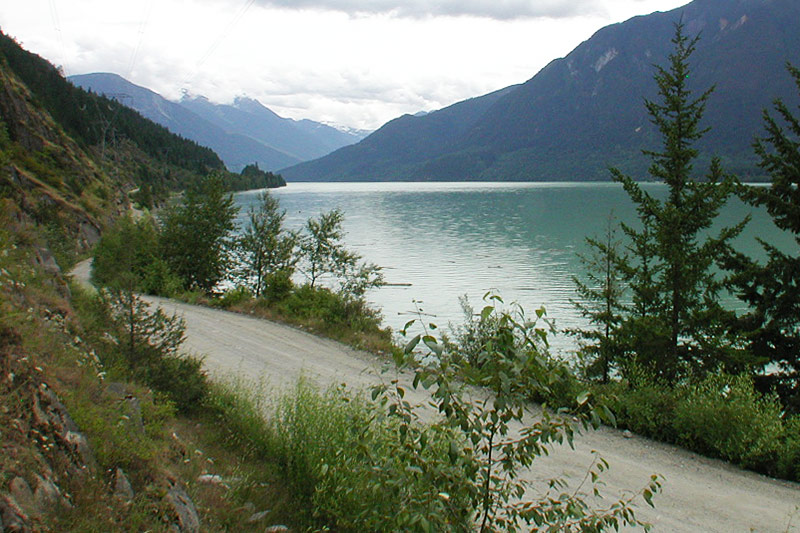 Lake Lillooet near Mount Currie, Pemberton Valley, Sea to Sky, British Columbia, Canada