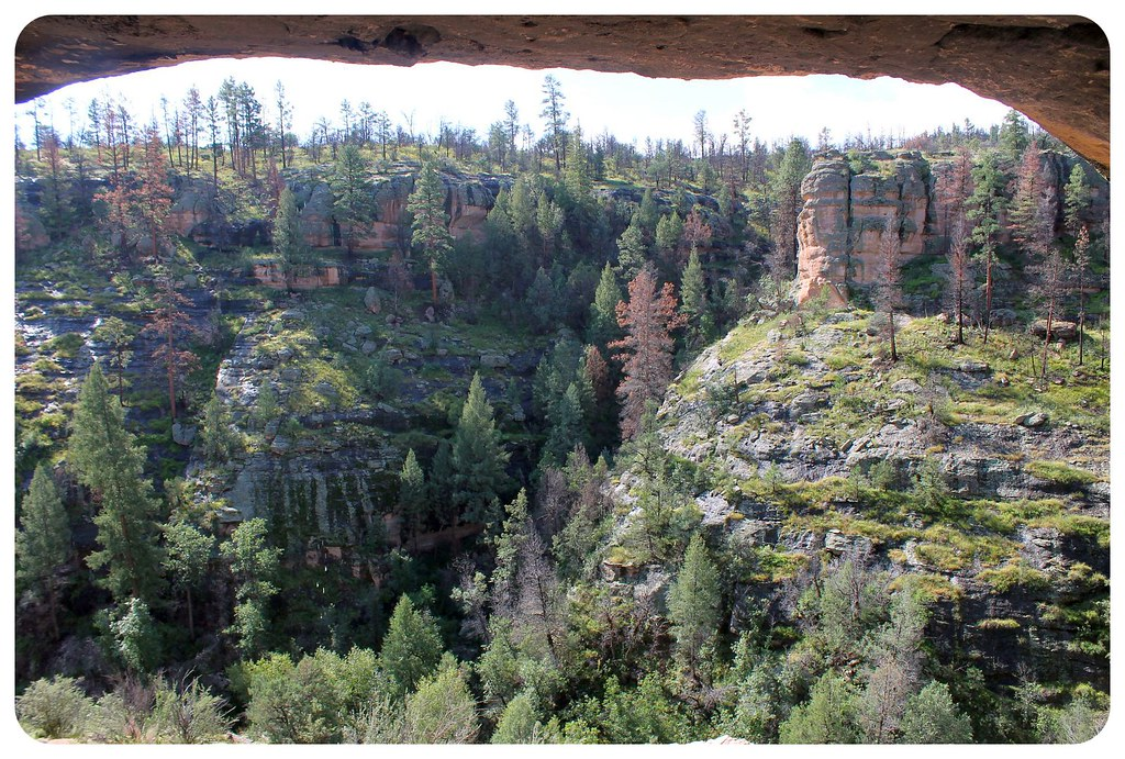 gila cliff dwellings view