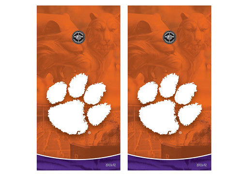 Clemson Cornhole Game Decal Set