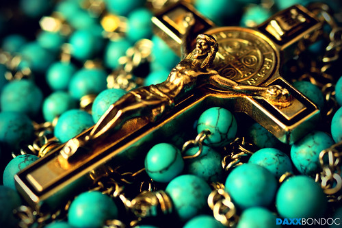 Turquoise Rosary with Benedictine Cross