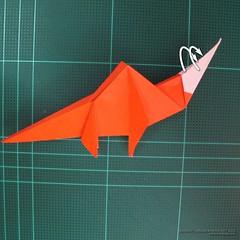 วิธีการพับกระดาษเป็นรูปไดโนเสาร์ (Origami Dinosaur) 021