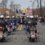 Fort Lee Motorbike Police Officers, 2014 Bergen County St. Patrick`s Day Parade, Bergenfield, New Jersey