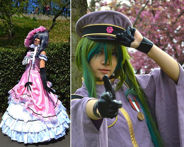 Visitors at Sakura Matsuri. Photos by Ruiyan Xu (left) and Elizabeth Peters (right).