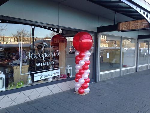 Ballonpilaar Breed Rond Marquerite Winery Hoogvliet Rotterdam