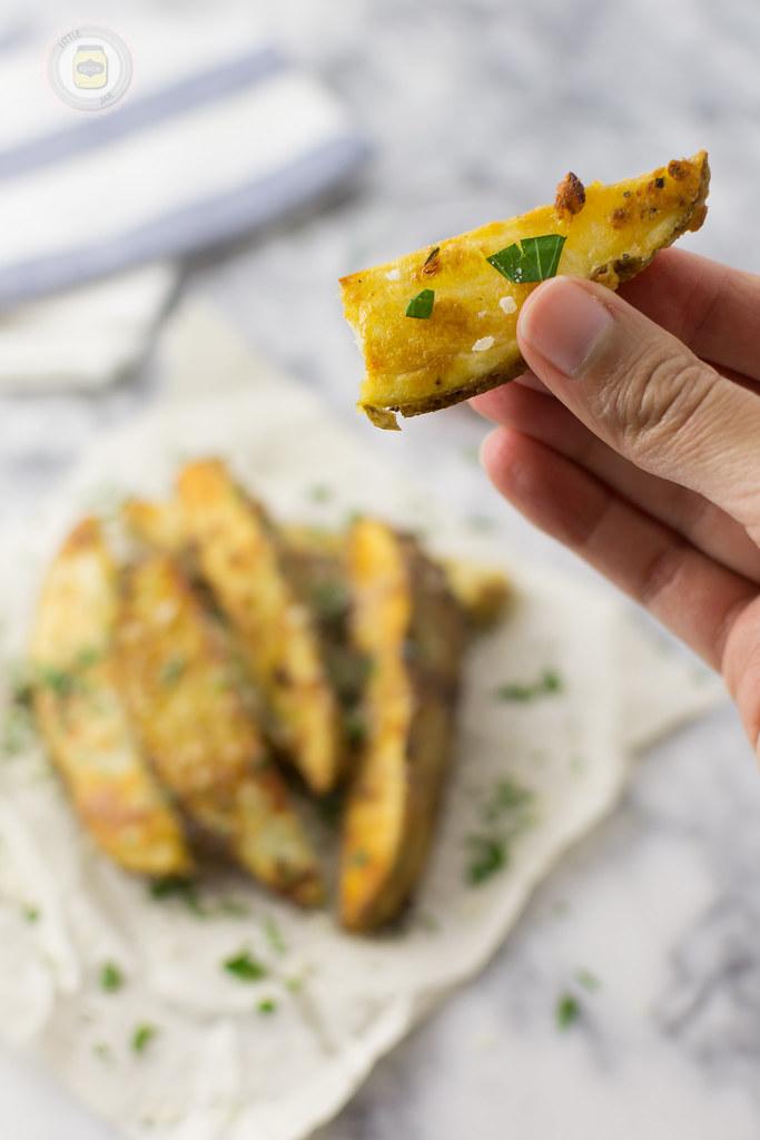 Healthy Garlic Parmesan Fries Bitten 2