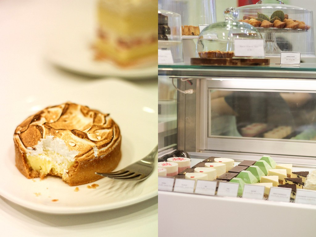 CIEL Patisserie's Lemon meringue tart & their cake varieties.