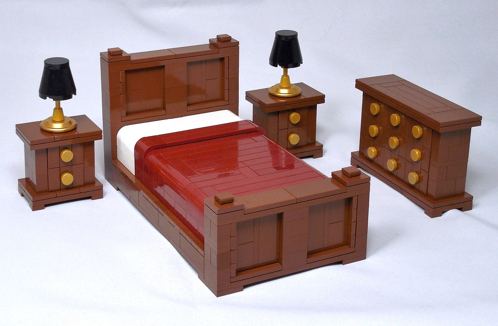 Bedroom Furniture (custom built Lego model)