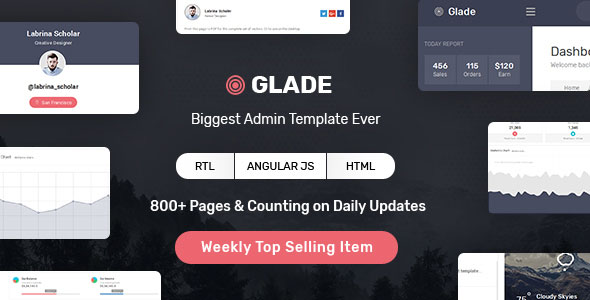 Admin Template with Angular & Bootstrap - Glade v1.5