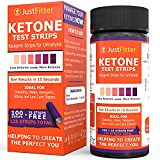 #healthyliving Ketone Test Strips. Testing Levels of Ketones Suitable for Diabetics, Low Carb, & Fat Burning Dieters. (100 + 25) Get on Track with Ketogenic, Paleo, Diabetic, or Atkins Diet for Weight Loss & Ketosis