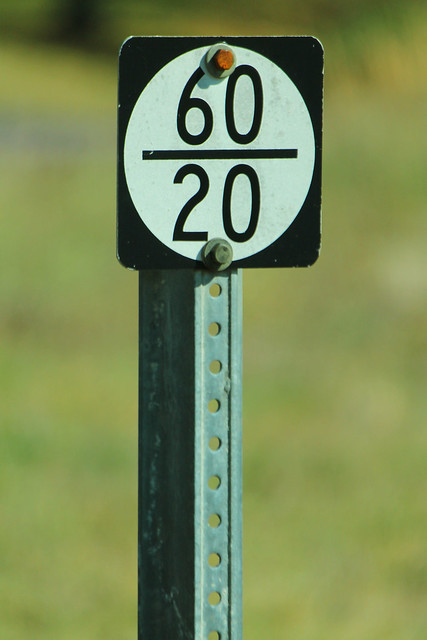 Small 60/20 Sign