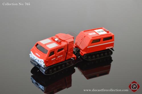 No. 765 | TOMICA | Morita All Terrain Vehicle Red Salamander Extreme V