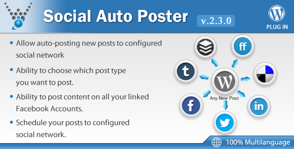 Social Auto Poster v2.3.0 - WordPress Plugin