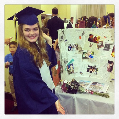 Betsie's senior display at the graduation reception. #betsiesgraduation #checgraduation #seniordisplay #betsiessenioryear #thegraduate
