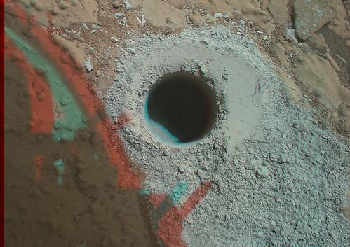 Curiosity MAHLI Sol 279 Cumberland anaglyph