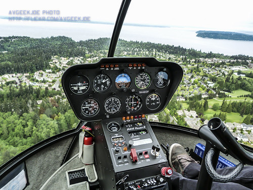 A Peek Into the Robinson R44 Raven II Cockpit...