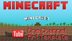 MineCraft YouTube One Channel Art Template