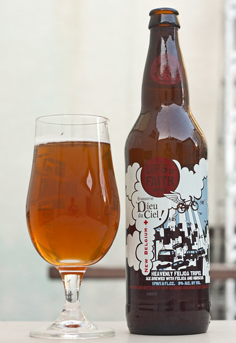 Review: New Belgium & Dieu du ciel collaboration: Heavenly Feijoa Tripel (Lips of Faith) by Cody La Bière