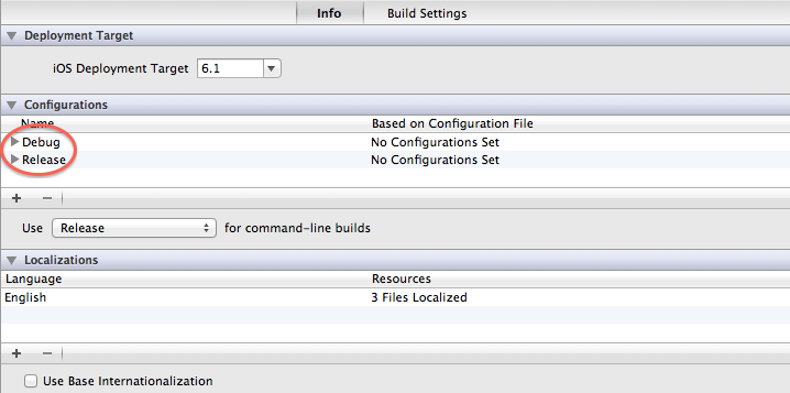 Configuraciones y esquemas de proyectos