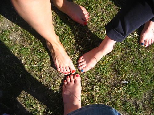 Nurses' toes!