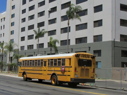 San Diego Unified School District International school bus # 7450. San Diego California.  June 2013. by Eddie from Chicago
