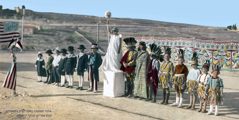 Early 20th Century - 4th of July Pageant in Jerusalem