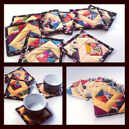 Finished! Pretty coaster set of eight.