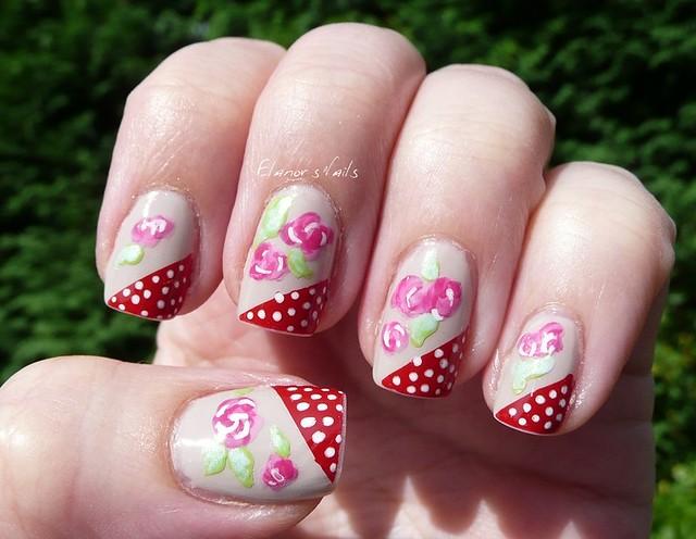 polka dots + roses 1