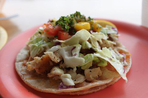 Coconuts Fish Cafe Fish Tacos, Photo Courtesy of Coconuts Fish Cafe