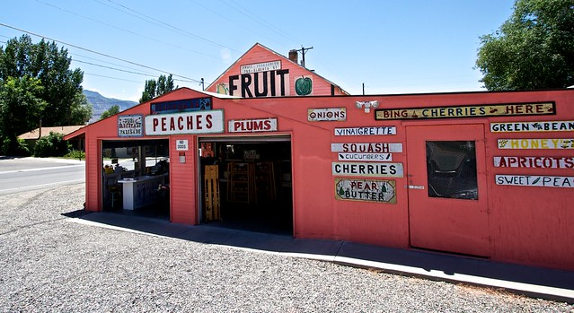 A fruit and vegetable shack in Palisade, Colorado