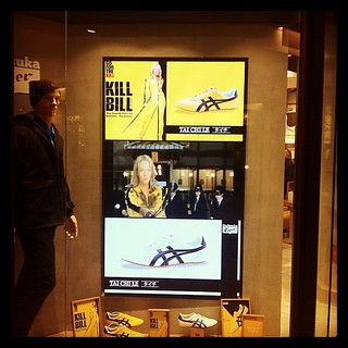 And, downstairs, you can get your #killbill shoes. #fashion