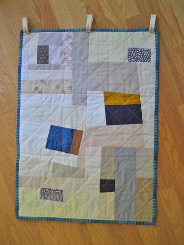 August Block Lotto - The Back of my Mail Wall Pocket quilt