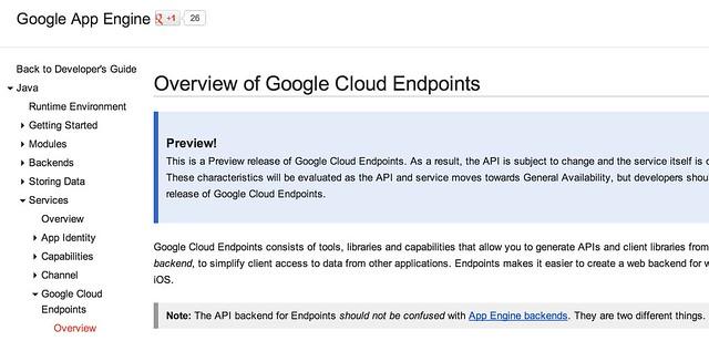 Google Cloud Endpoint