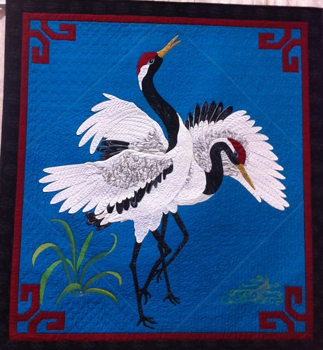 Dancing Cranes~Quilt by Kathy McNeil