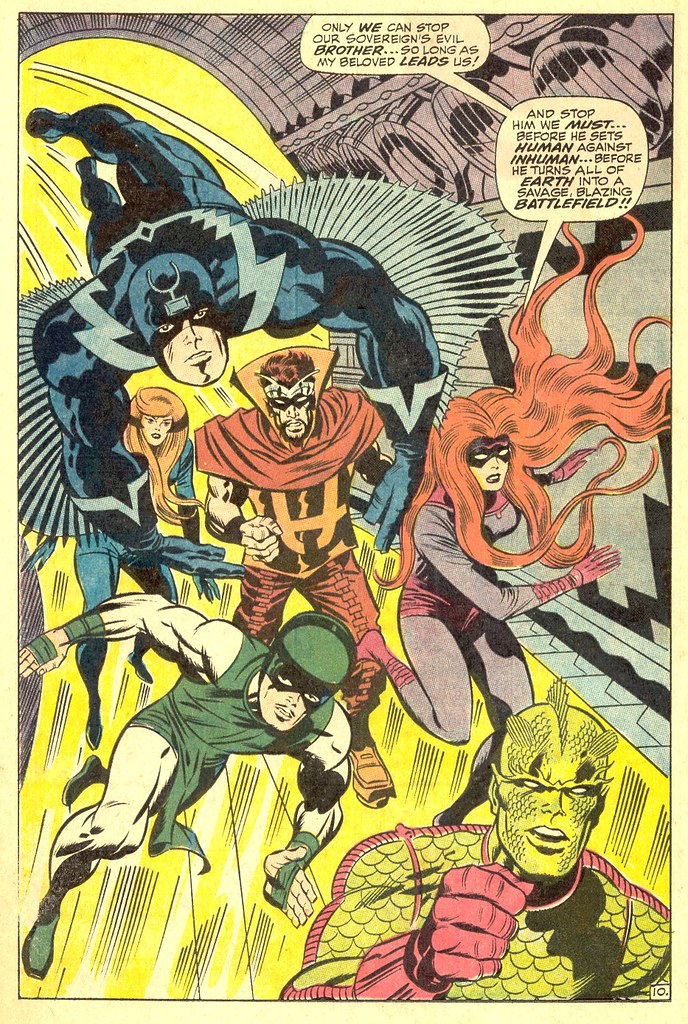 Fantastic Four 83 Inhumans splash page 1969
