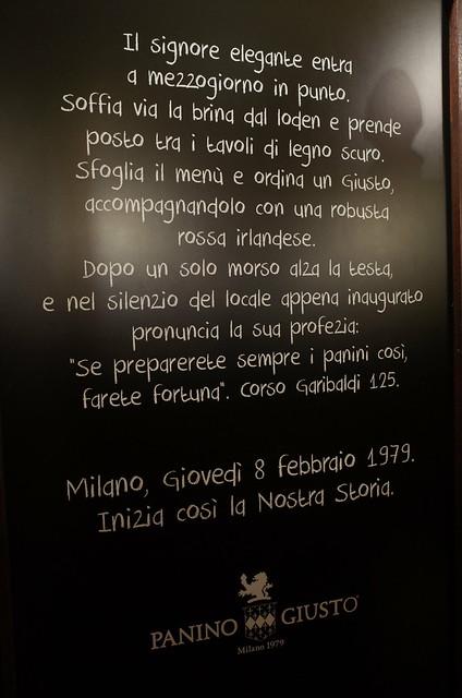 PANINO GIUSTO history