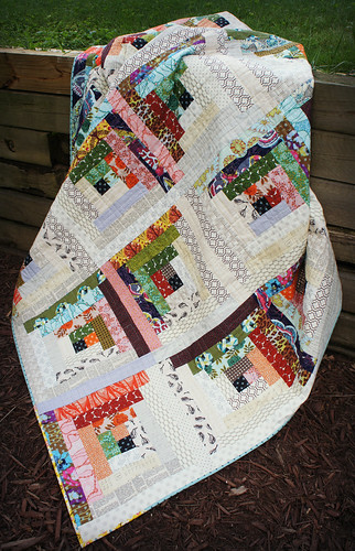 Quiet Cabin Quilt - Angled View