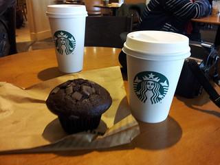 Petite pause à Starbucks