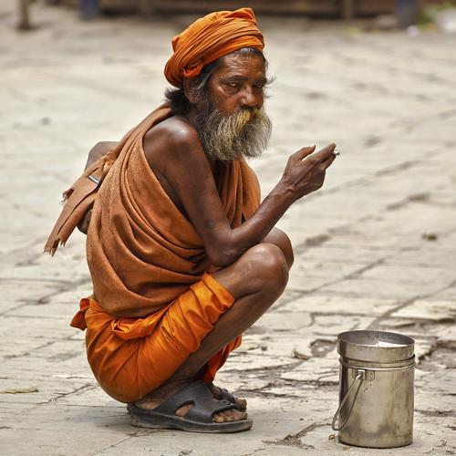 nepal smoking kathmandu sadhu durbarsquare