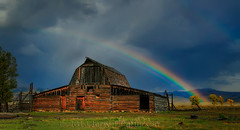 An Autumn Rainbow At The Northern Moulton Barn