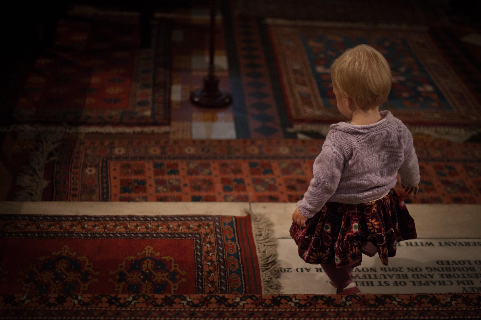 English floor, Turkish carpets.