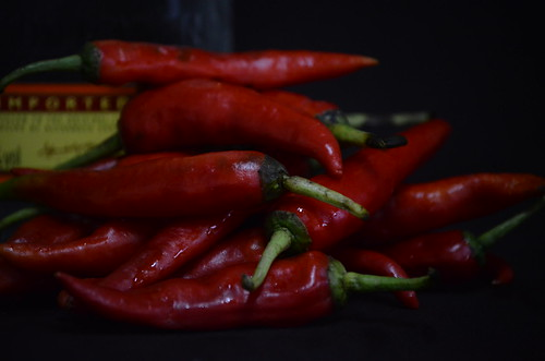 Red peppers for Gin Pepper Sauce