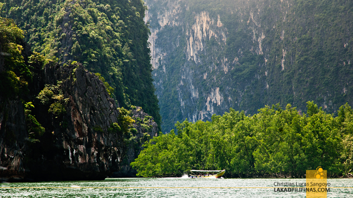 Panoramic View at Thailand's Phang Nga Bay