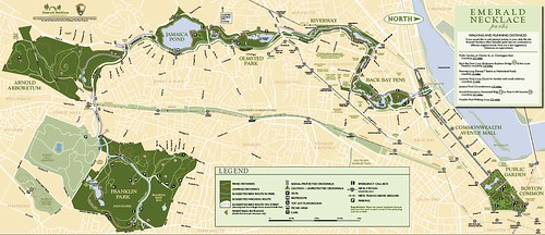 Emerald Necklace map (courtesy of Emerald Necklace Conservancy)