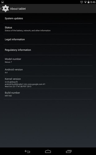 Android 4.4 для Nexus 10