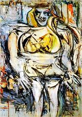 Willem de Kooning, Woman V (not actual work but similar)
